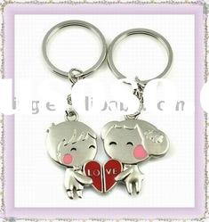 New fashion design metal alloy keychain keyring for lovers