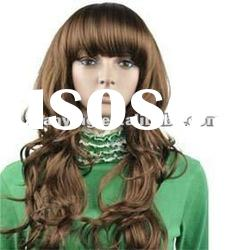 New style Women's Brown long hair wigs Natural Looking synthetic lace wigs
