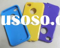 Normal TPU Gel Silicon Case for iPhone 4S 4G 4 + Free Shipping + Mix Color