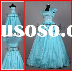 PYN2217 2012 In Stock Organza Strapless Ball Gown quinceanera dresses