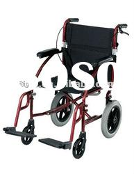 Powder coated disable folding manual Deluxe Light Weight Aluminum Transport wheel Chair