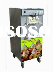 Rainbow soft serve ice cream machine BQ323