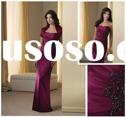 Shealth Strapless Satin Floor-length Mother of the Bride
