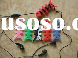 Silicone earphones cable wire wrap organizer