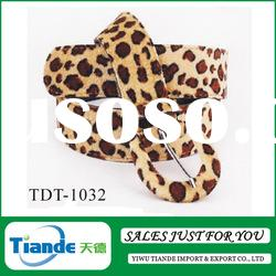 Tiande Leopard grain belt /animal skin leather belt