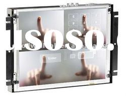 Touchscreen metal frame 16:9 industrial S-Video VGA Input 10.2 inch open frame lcd