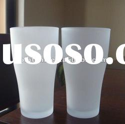 White Frosted Glass Cup
