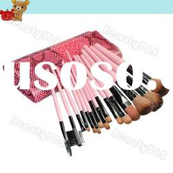 Wholesale New Arrival 15 PCs Professional Pink Cosmetic Makeup Brush Set With Case