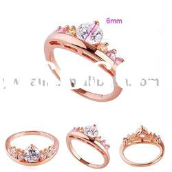 beautiful zircon design gold plated ring 190292