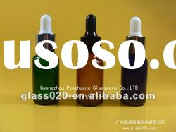 colorful essential glass bottle with seal cap