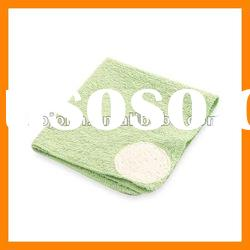 green bamboo fiber bath towel