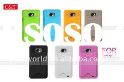hard protective case with card design for Samsung i9100 Galaxy S2