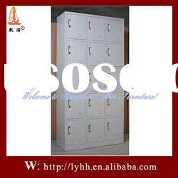 hot selling modern design fashion steel cabinet with 15 doors
