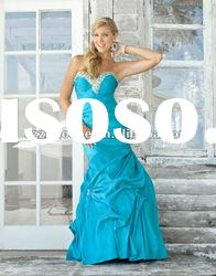 mermaid blue evening gown WZ2233