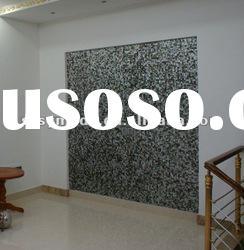 natural black mother of pearl decorative wall panel with mesh back