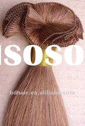 paypal accept wholesale top quality 100% human hair hand tied weft hair extensions