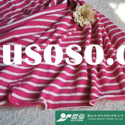 pink and white stripe fabric