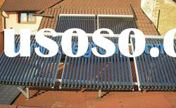 pressurized heat pipe evacuated tube solar sun collector water heater