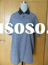 yarn dyed striped polo t shirt
