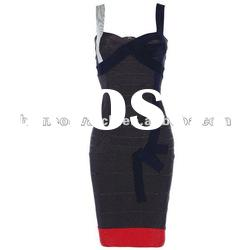 2012 Black Strap Bandage Dress,Fashion Gowns Prom Dress,Party Evening Dress DH173