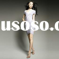 2012 Grey Short Sleeves Fashion Gowns,Lady Hot Evening Party Dress DH091