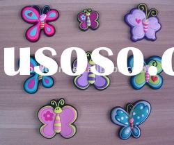 3d soft pvc fridge butterfly magnets