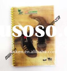 3d stereo effect notebook cover for 3d spiral notebook or 3d o wire notebook