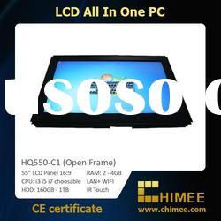 """55 inch Open Frame Touch Screen (All In One PC, Full HD, i3 i5 i7 optional) (17~65"""")"""