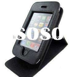 Flip leather case cover for Iphone 4G