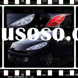 For Peugeot 207 Chrome Head Lamp Rim Frame Cover