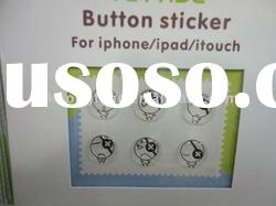 For iPhone Home Button Stickers.Crystal Button Stickers.Retail Package,wholesale