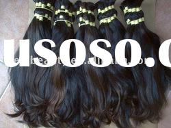 Natural brazilian hair bulk accept sample order