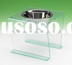 Pet Dining Table Single Bowl Clear Green