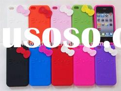 Silicon case for iphone 4 4g,hello kitty silicon case for iphone,mix colors