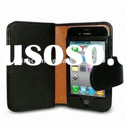 Vertical leather pouch case for iphone 4G 3G/3GS ipod