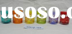 colourful glass tea light candle holder with high quality