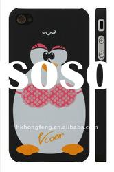 wholesale Cute Cartoon Penguins design of lovers PC case for iphone 4G