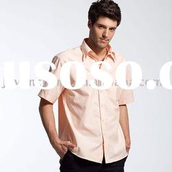 100% cotton short sleeve casual shirt for men