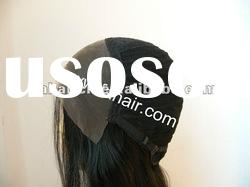 100% remy chinese hair half machine half hand made tied lace wig