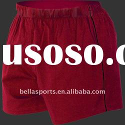 2011 Performance Match red Rugby sports short/pants in cotton/spandex fabric