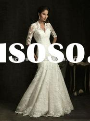 2012 new style lace jacket embroidery sweetheart Exquisite Bridal Mermaid Wedding Dress
