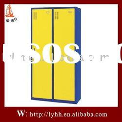 Assembly yellow double door steel office file cabinet