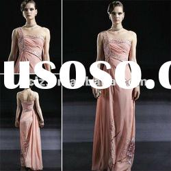 C56680 best selling lady one shoulder long evening pageant dress