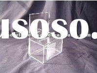 Clear Acrylic Ballot Box Jumbo Deluxe With Full Page Header
