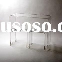 Clear Acrylic Waterfall Console & Nesting Tables