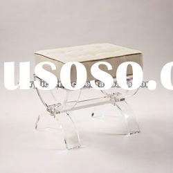Clear Acrylic X-stool Bench
