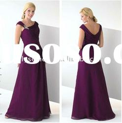 Distinctive Design Asymmetrical Neckline Chiffon Mother of the Bride Dress