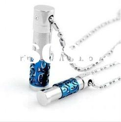 Fashion titanium stainless steel crystal lover party pendant necklace