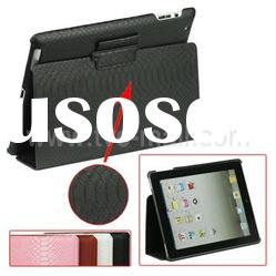For iPad 2 Ultra Thin Crocodile Leather Skin Case with Built-in Holder
