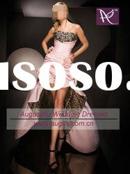 Instock 01 Affordable Leopard Print Light Pink High Low Prom Dresses